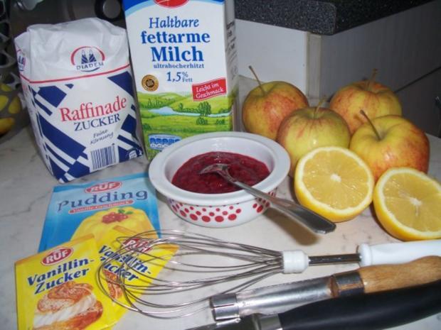 Schoko-Himbeer Äpfel himmlisch gebettet auf Vanille - Rezept - Bild Nr. 2