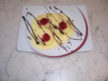 Schoko-Himbeer Äpfel himmlisch gebettet auf Vanille - Rezept