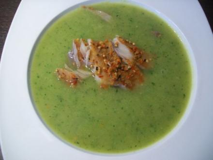 Zucchinisuppe mit Räucherfisch - Rezept