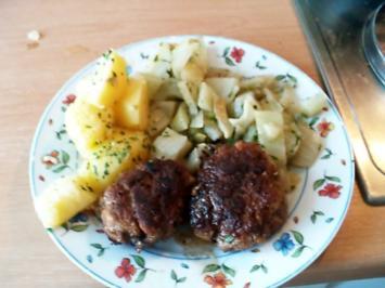 Kräuter-Bouletten mit Fenchelgemüse und Petersiliekartoffeln - Rezept - Bild Nr. 2