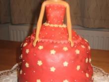 Barbie Torte ohne Creme - Rezept