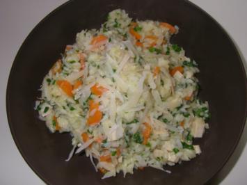 Bärlauchrisotto mit Hühnerbrust und Karotten - Rezept