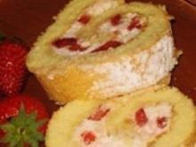 Erdbeerrolle in 30 Minuten - Rezept
