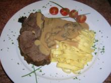 Rahmbraten (vom falschen Filet mitChampignons (einfach ... nur lecker so finden wir) - Rezept