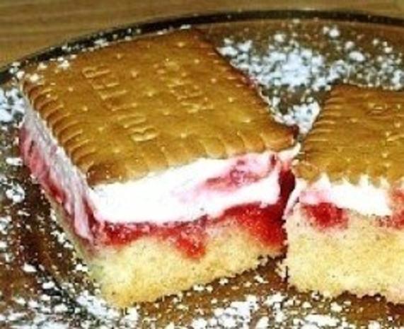 Himbeer-Butterkeks Kuchen - Rezept