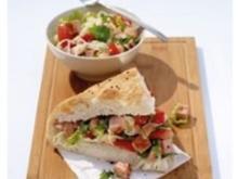 Leberkäse-Salat-Tasche - Rezept