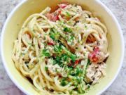 Spaghetti - Thunfisch - Salat - Rezept