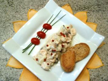 Hänchen-Garnelen-Salat - Rezept