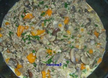 Rezept: Kochen: Pilz-Hackfleisch-Pfanne II