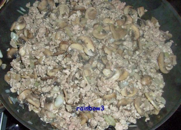 Kochen: Pilz-Hackfleisch-Pfanne II - Rezept - Bild Nr. 3