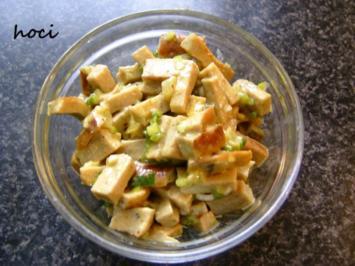 Bratwurstsalat mit Senf-Knoblauchdressing - Rezept