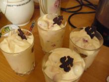 Johrurtdessert mit Himbeeren - Rezept