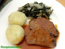 Fleisch:    RINDERBRATEN an Mangoldgemüse - Rezept