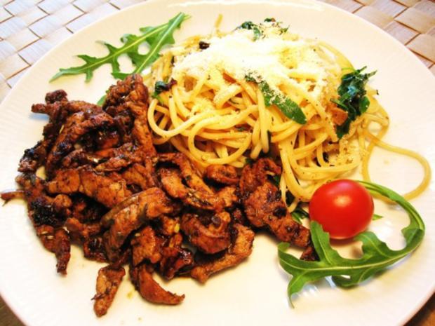 Spaghetti mit Rucola ... - Rezept - Bild Nr. 7