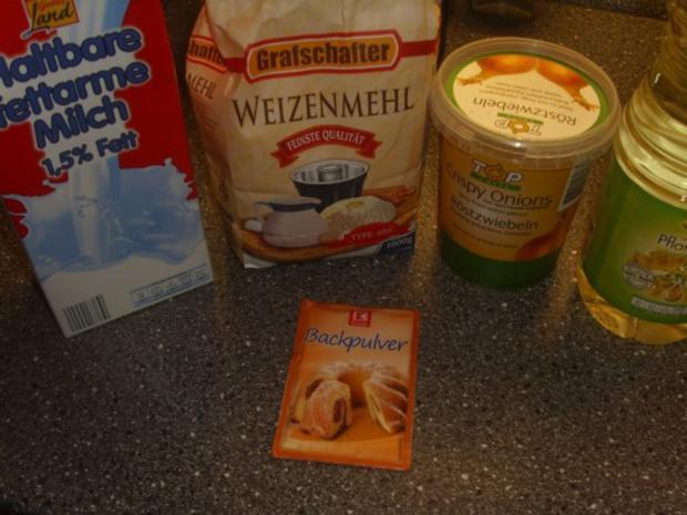 Weissbrot ohne Hefe mit Röstzwiebeln - Rezept - Bild Nr. 2
