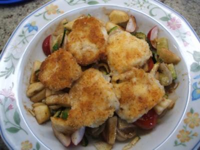 Salate: Rohkostsalat mit gebackenem Mozzarella - Rezept