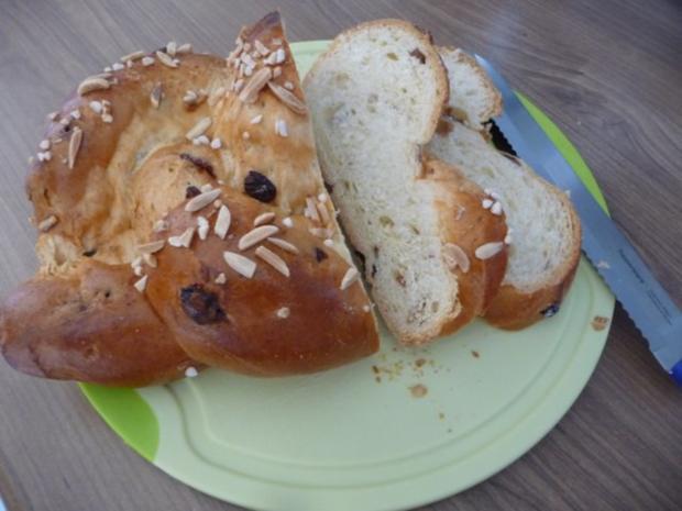 Kuchen : Mandel - Hefe - Zopf - Rezept - Bild Nr. 2