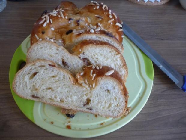 Kuchen : Mandel - Hefe - Zopf - Rezept - Bild Nr. 3