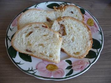 Kuchen : Mandel - Hefe - Zopf - Rezept