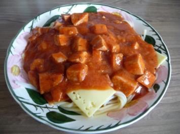 Fixe Küche : Spaghetti mit Tomatensoße - Rezept