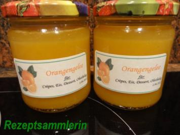 M+G:  ORANGEN - GELEE ohne Fruchtfleisch - Rezept