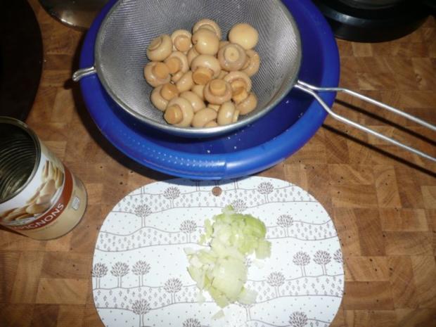 Nierchen mit Champignons - Beilage Reis - Rezept - Bild Nr. 2