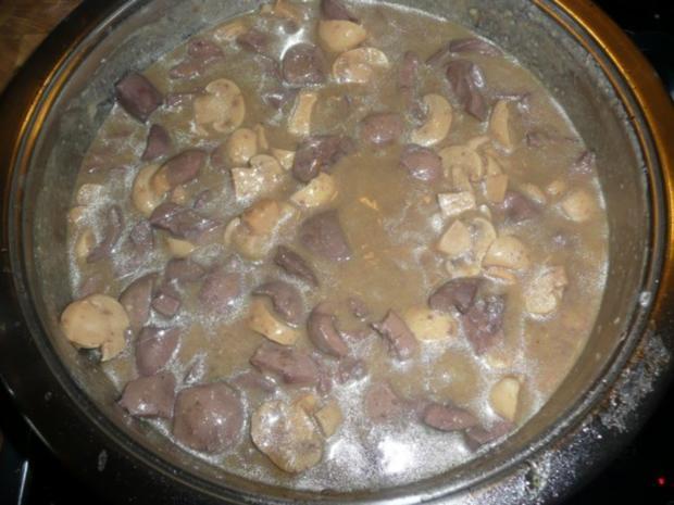 Nierchen mit Champignons - Beilage Reis - Rezept - Bild Nr. 5