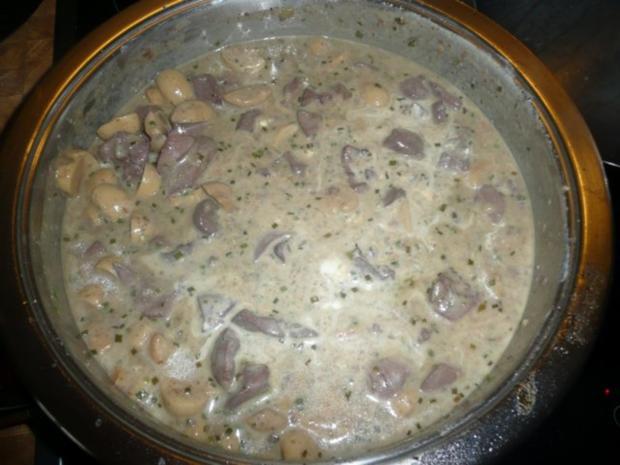 Nierchen mit Champignons - Beilage Reis - Rezept - Bild Nr. 6