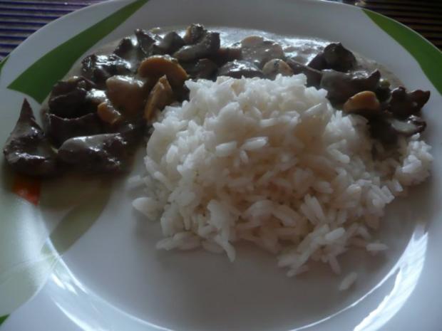 Nierchen mit Champignons - Beilage Reis - Rezept - Bild Nr. 8