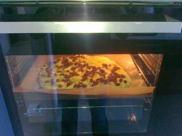 Hefe – Apfel – Blechkuchen mit eingelegten Rosinen ( 24 Monate ) - Rezept - Bild Nr. 10