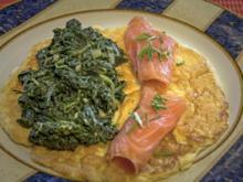 Omelett mit Lachs und Blattspinat - Rezept