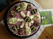 Waldbeer-Kaesetorte gekuehlt (passt auch zu Ostern) - Rezept