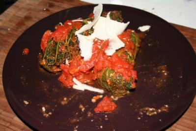 Wirsing-Wickerl vegetarisch - Rezept