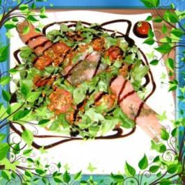 Salat: Feldsalat mit Lachs - Rezept