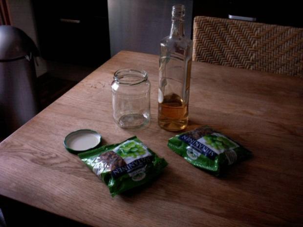 eingelegte Rosinen fürs Osterbrot, Osterkuchen - Rezept
