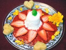 Joghurtmousse auf Erdbeerpüree - Rezept