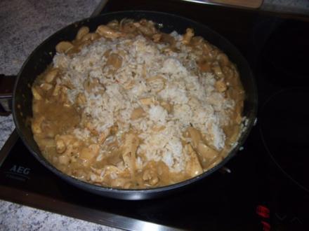 Hähnchen-Reispfanne - Rezept