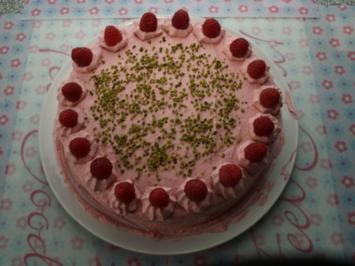 Himbeer- Sahne- Torte - Rezept