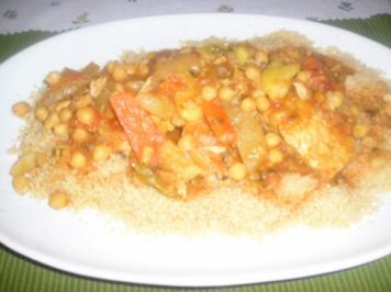 Couscous mit Hühnerfleisch - Rezept