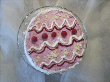 Himbeer-Osterei-Torte - Rezept