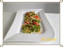 Bohnen Salat mit Tomaten und Zwiebel - Rezept