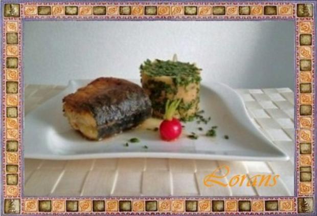 Gebratene Makrele mit einer raffinierten  Kräuterkomposition - Rezept