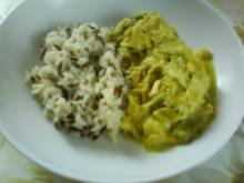 Curry-Lauch-Rahmgemüse mit Wildreis - Rezept