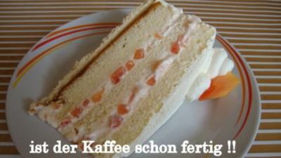 Papaya Quark-Joghurt-Sahne Torte - Rezept