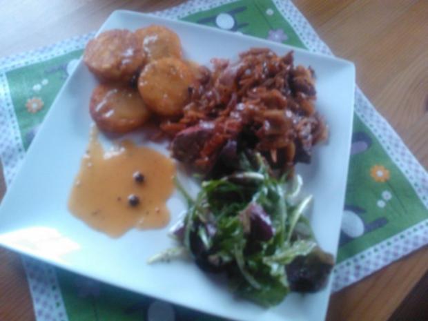 Leber nach Tiroler Art mit Sauce Poivre - Rezept