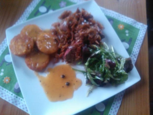 Leber nach Tiroler Art mit Sauce Poivre - Rezept - Bild Nr. 3