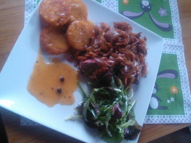 Leber nach Tiroler Art mit Sauce Poivre - Rezept - Bild Nr. 4