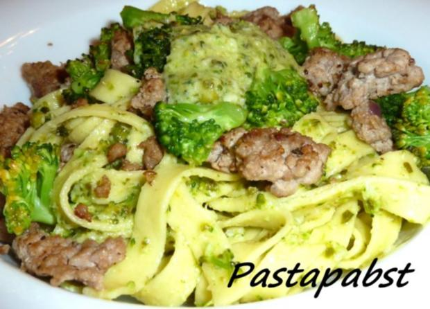 Tagliatelle mit Broccoli Pesto - Rezept - Bild Nr. 2