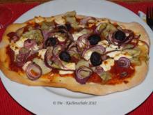 Pizza mit Artischocken und Mailänder Salami - Rezept