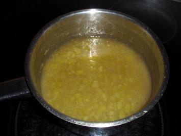 Rhabarberkompott auf Sahnecreme - Rezept